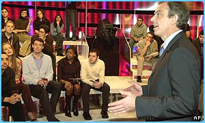 Tony Blair debates Iraq on MTV