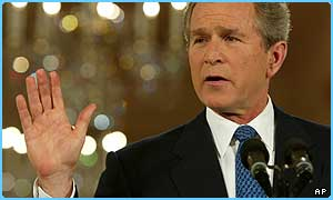 President Bush wants a UN vote on war with Iraq
