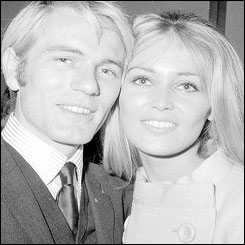 Adam Faith and Jackie Irving on the eve of their wedding