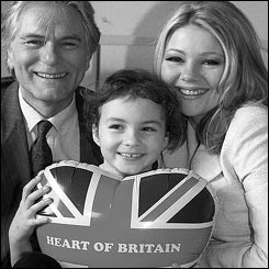 Adam Faith with Jan Monroe and heart patient Danielle Stephenson