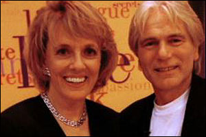 Adam Faith appears on Esther Rantzen's BBC television afternoon chat show