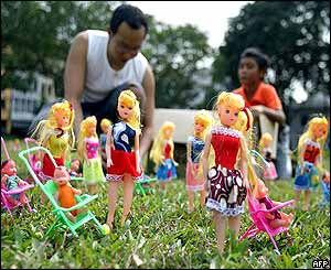 Doll exhibition at Speakers' Corner in Singapore