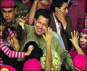 Hugo Chavez celebrating Women's Day