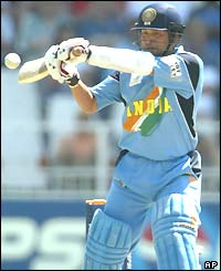Sachin Tendulkar plays the pull shot during his innings against Sri Lanka