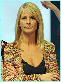 Sunday: Ulrika didn't look too happy when the next live show came round