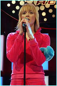CBBC's Fearne Cotton sang for survival in a bright pink tracksuit, but her voice was a teensy bit dull...