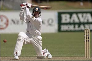 Zimbabwe's Andy Flower hits out against England in 1996