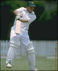 Andy Flower plays a shot for Zimbabwe against New Zealand in 1992