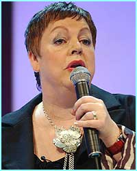 Sunday: Poor old Jo Brand was singing for survival again - and she missed her cue to start the song!