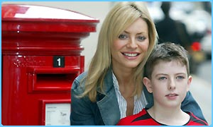 Christopher Chambers with TV presenter Tess Daly