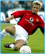 It was Becks's defending skills which got Chris in trouble!