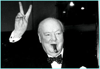 Winston Churchill, possibly Britain's greatest Prime Minister. He led Britain to victory in World War Two