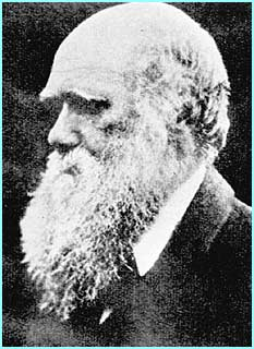 Charles Darwin, whose theory of evolution changed the world in 1859 when he published Origin of Species