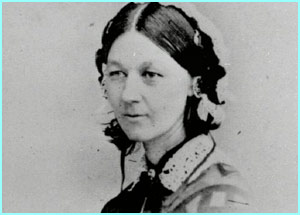 Florence Nightingale, who helped improve the standard of hospitals in Britain