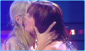 Ulrika and Doon hug after the vote