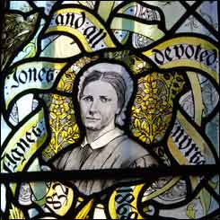 Agnes Jones' stained glass window in Liverpool's Anglican Cathedral
