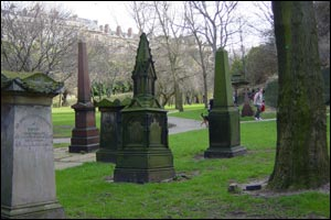 Anglican Cathedral cemetery in Liverpool