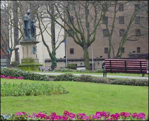 Father Nugent's statue in St John's Gardens, Liverpool city centre