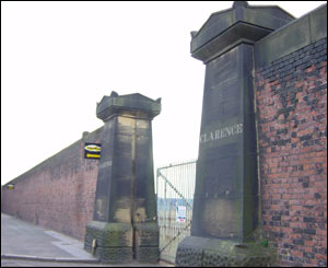 Clarence Dock gates, Liverpool