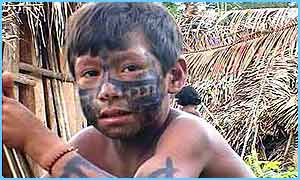 Tamata'i lives in the Amazon with his family