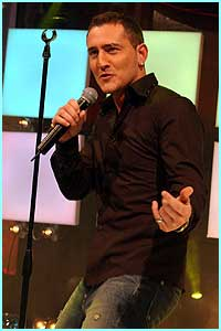 Wednesday: Will Mellor gives it some with his performance of Play That Funky Music