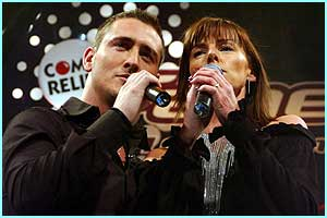 Wednesday: Will and Doon croon a romantic number - but the judges STILL weren't that impressed. Honestly!