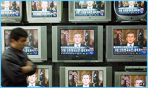 President Bush's speech was seen around the world