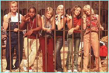 But for people who are stuck behind bars, the six of them don't look very unhappy