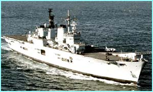 HMS Ark Royal, a British Aircraft Carrier