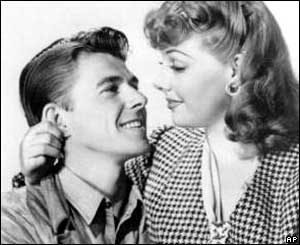 Ronald Reagan and Ann Sheridan