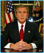 George Bush announced war had started on live TV