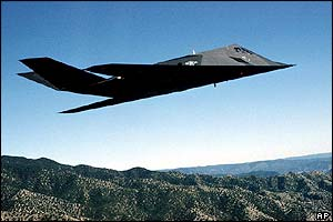 File photo of an F-117A Nighthawk Stealth fighter