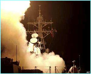 Tomahawk cruise missiles were launched as part of the attack