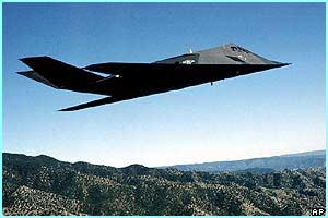 Some of the bombs dropped were from F-117A stealth fighters, the US said