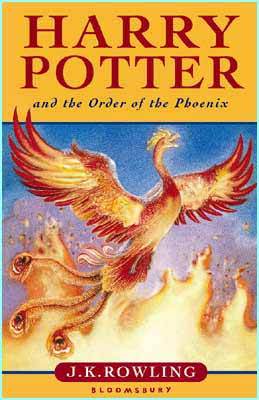 This is the UK cover to the Order of the Phoenix. It's the first Potter book without Harry on the cover
