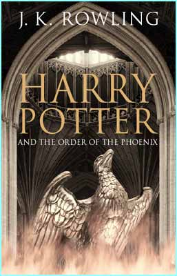 This is the adults' cover to the Order of the Phoenix. It was designed from a photograph
