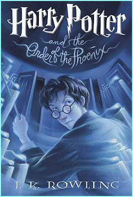 This the US cover, the only Order of the Phoenix one that has the boy wizard in it