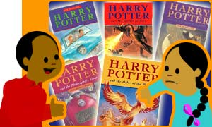Potter book covers