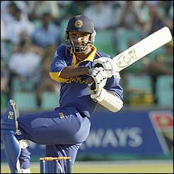 Marvan Atapattu of Sri Lanka was his side's top scorer
