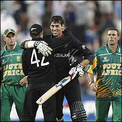 Stephen Fleming hit an unbeaten 134 as New Zealand  beat South Africa