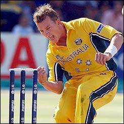 Australia's Brett Lee has taken 20 wickets