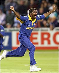 Sri Lanka's  Muttiah Muralitharan took 17 wickets