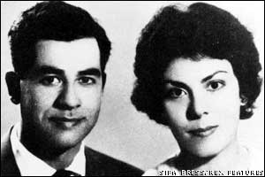 Saddam Hussein and his wife Sagida