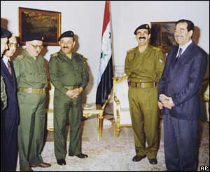 Saddam Hussein and his senior officials
