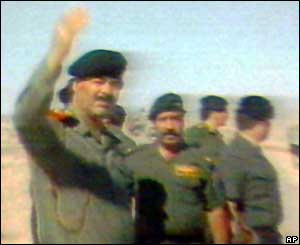 Saddam Hussein in Baghdad during the Gulf War