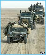 Troops are heading towards Baghdad