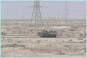 The soldiers had problems taking the buildings, so tanks were called in to help them
