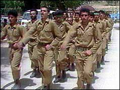Members of the Islamic Jihad training in Lebanon, 1991