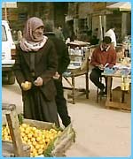 People have continued shopping at markets despite the war