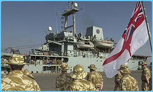 The Sir Galahad arrived with 650 tonnes of aid